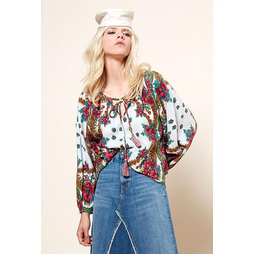 Floral print  Blouse  Possad Mes demoiselles fashion clothes designer Paris