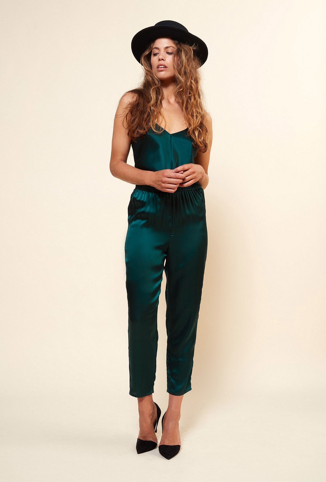 Sapphire  Jumpsuit  Almond Mes demoiselles fashion clothes designer Paris
