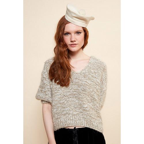 Ecru  Knit  Alpes Mes demoiselles fashion clothes designer Paris
