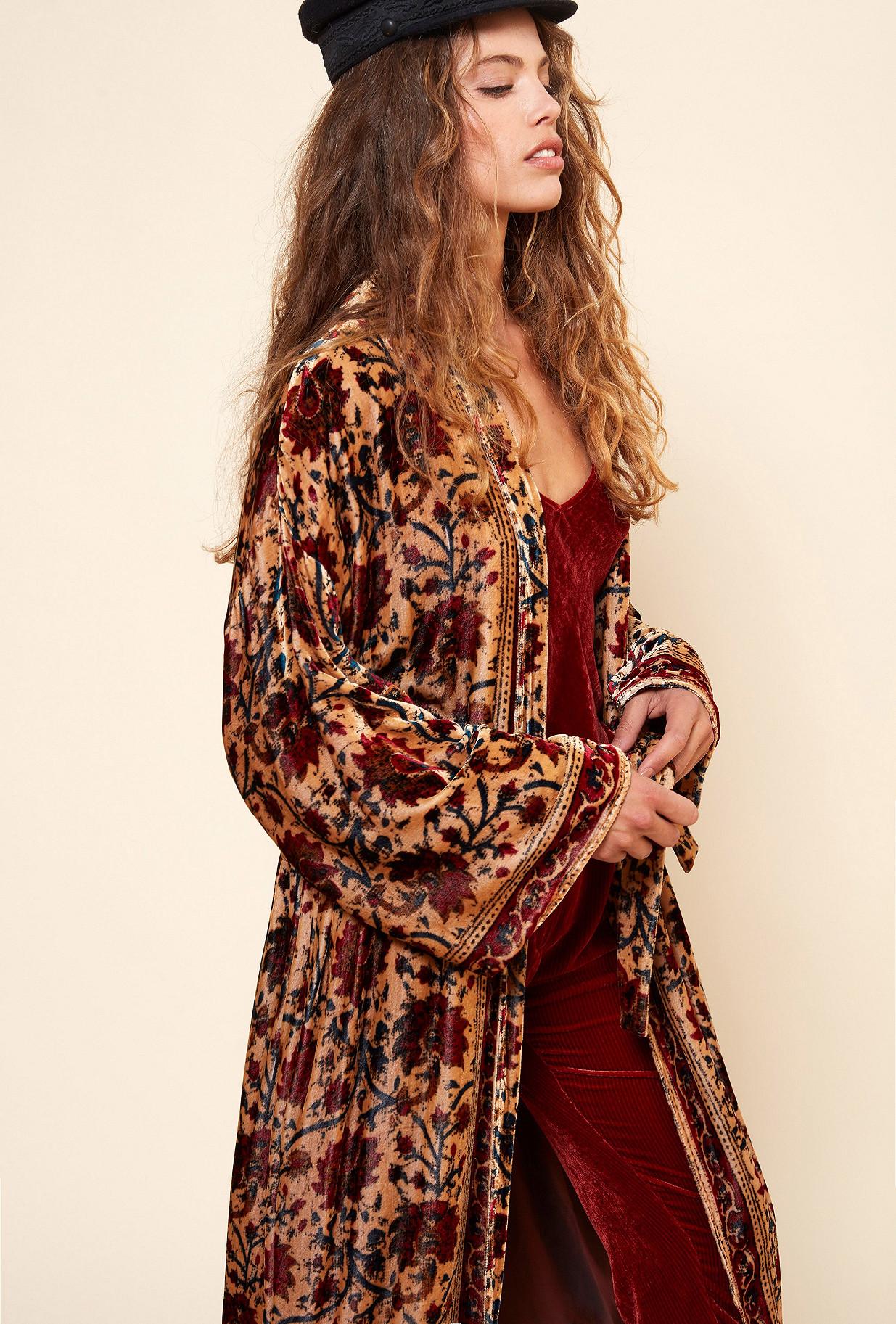 Floral print  KIMONO  Cesar Mes demoiselles fashion clothes designer Paris
