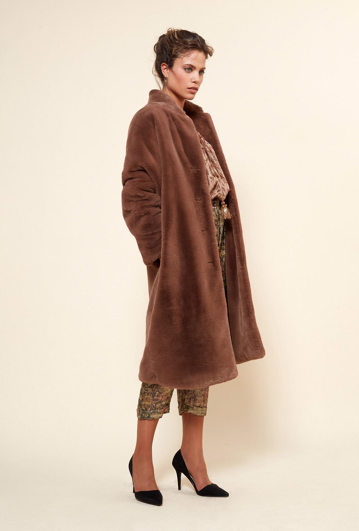MANTEAU Marron  Gazette mes demoiselles paris vêtement femme paris