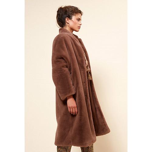 Brown  COAT  Gazette Mes demoiselles fashion clothes designer Paris