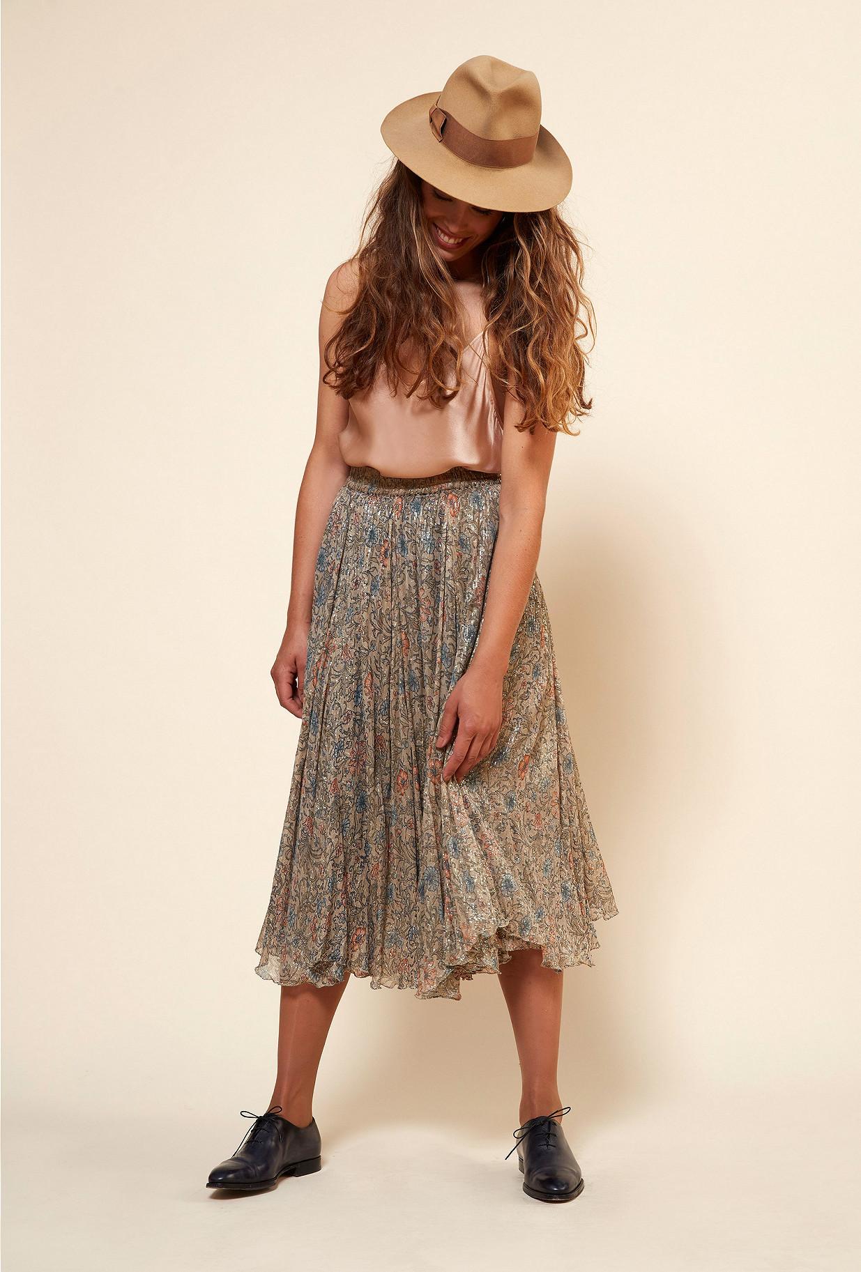 Floral print  Skirt  Gina Mes demoiselles fashion clothes designer Paris