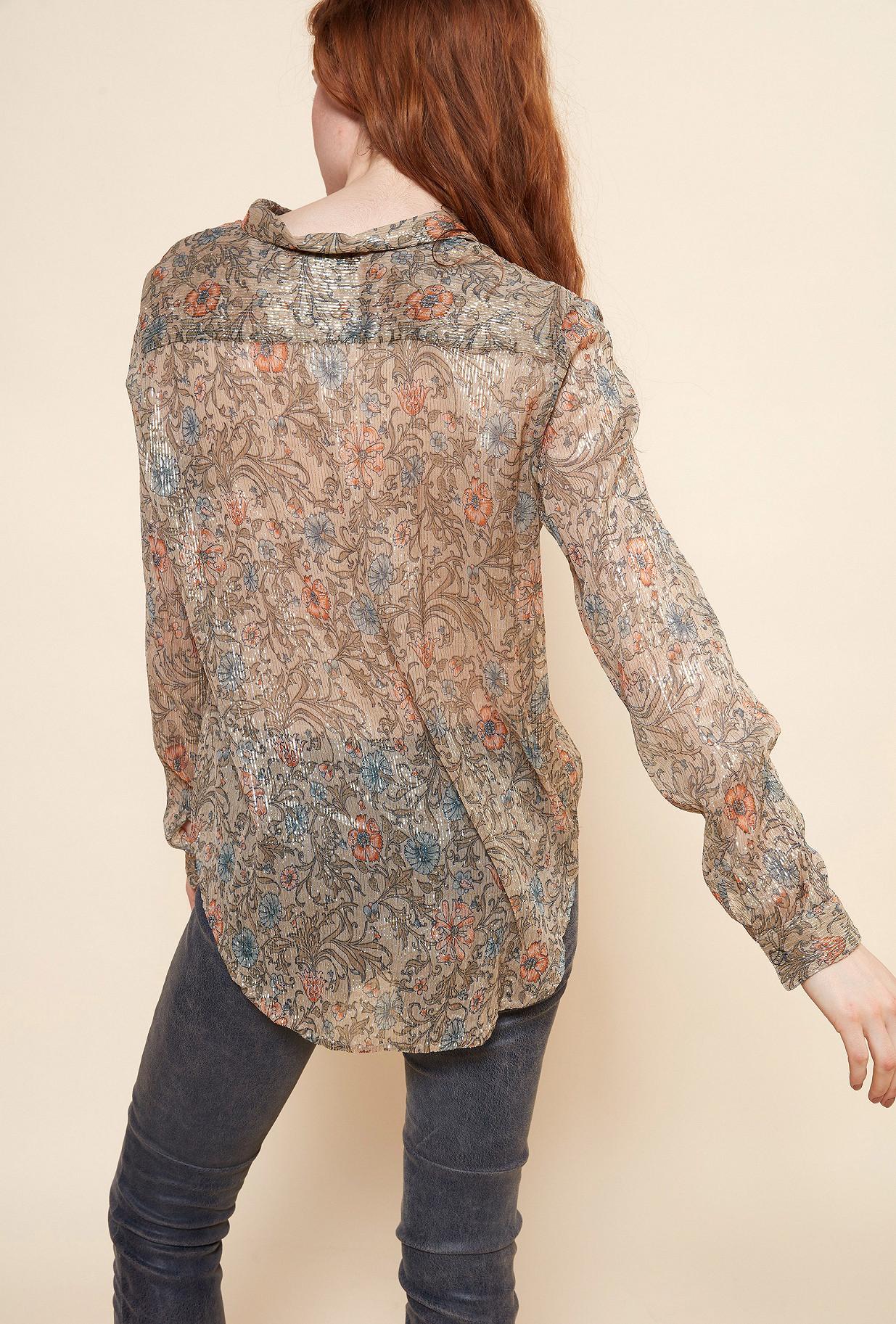 Floral print  SHIRT  Gracie Mes demoiselles fashion clothes designer Paris