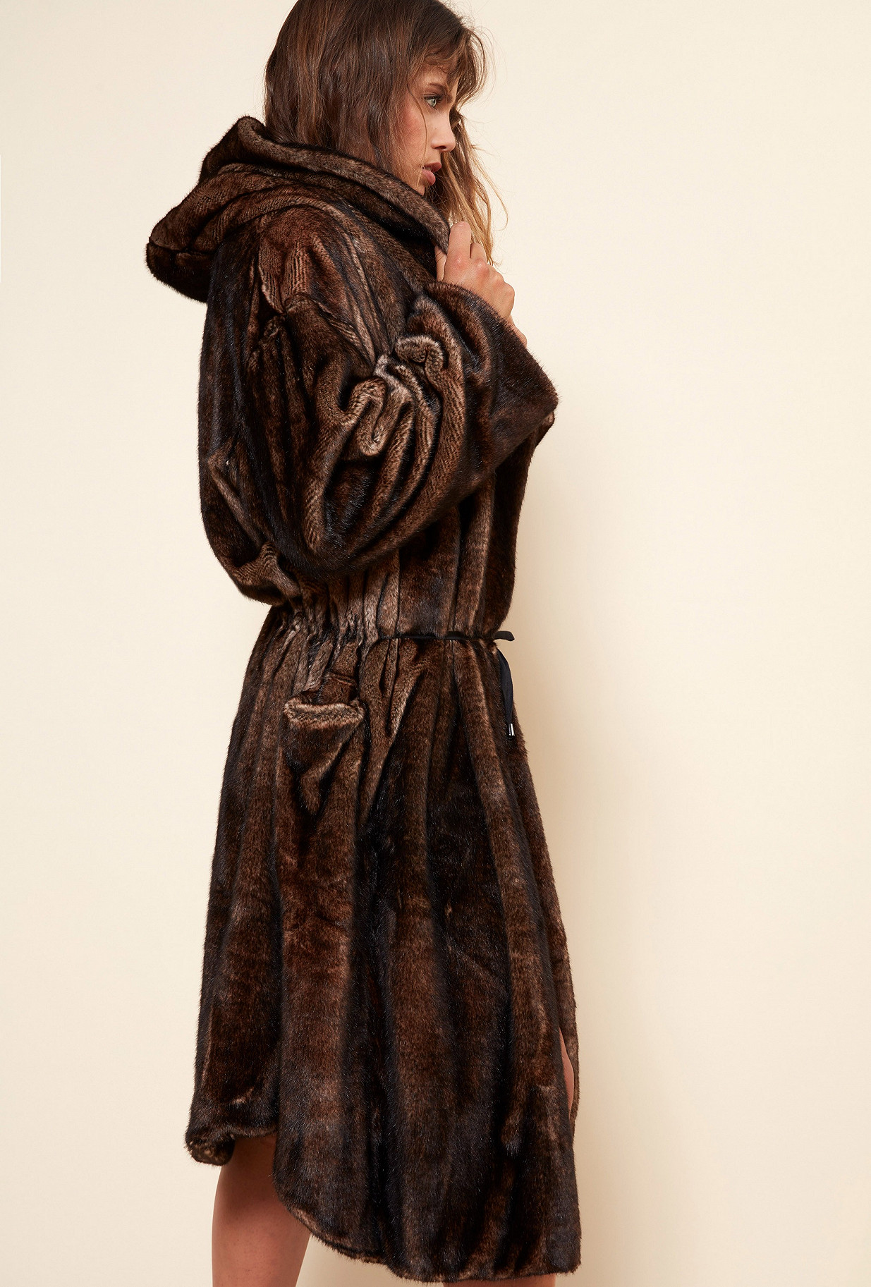 Brown  COAT  Mahogany Mes demoiselles fashion clothes designer Paris