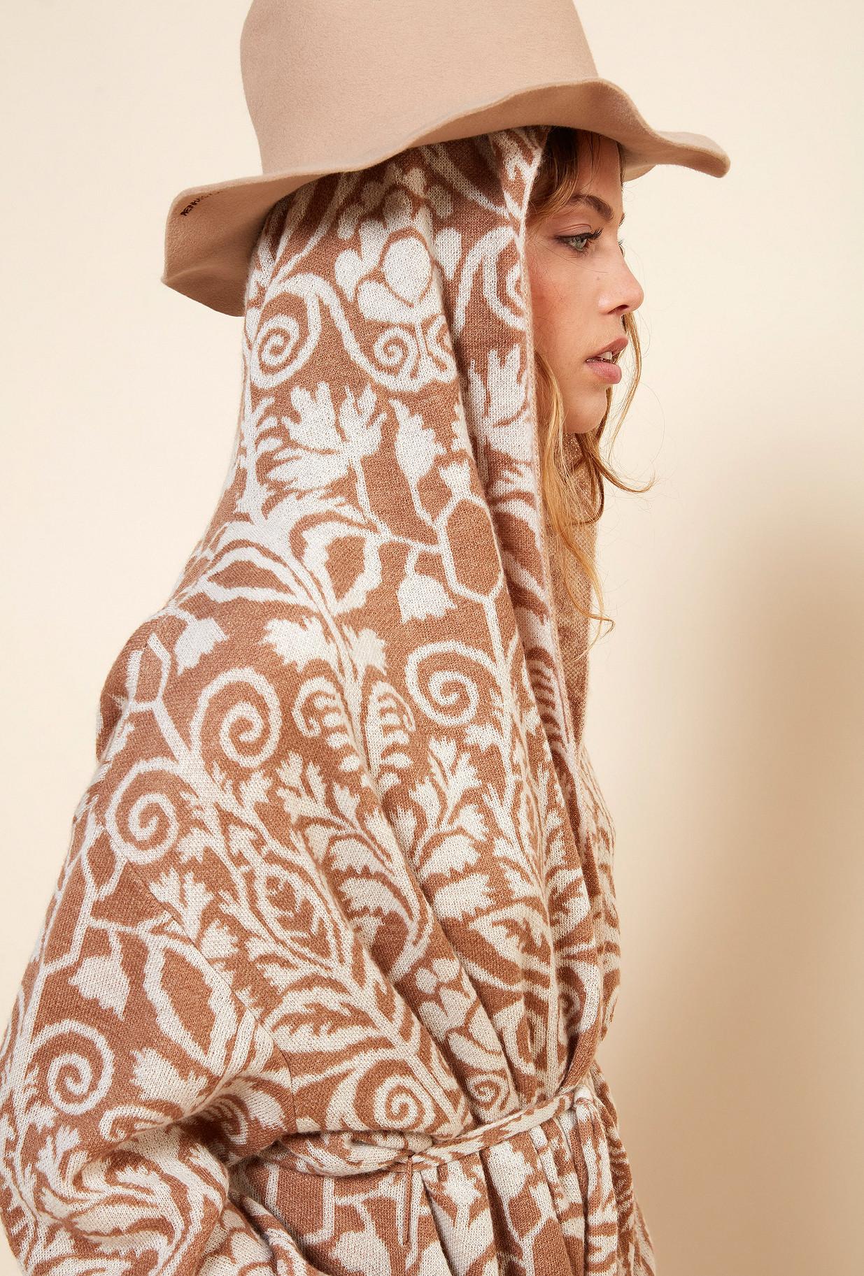 MANTEAU Imprimé camel Yetha