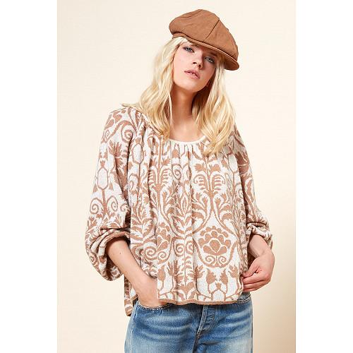 Camel print  Sweater  Yoopi Mes demoiselles fashion clothes designer Paris