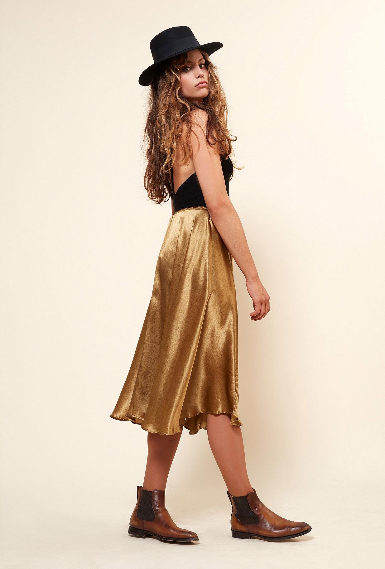 Gold Skirt Nafi Mes Demoiselles Paris