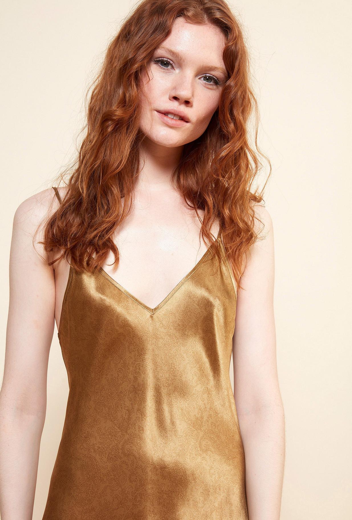 Gold  Dress  Nymphe Mes demoiselles fashion clothes designer Paris