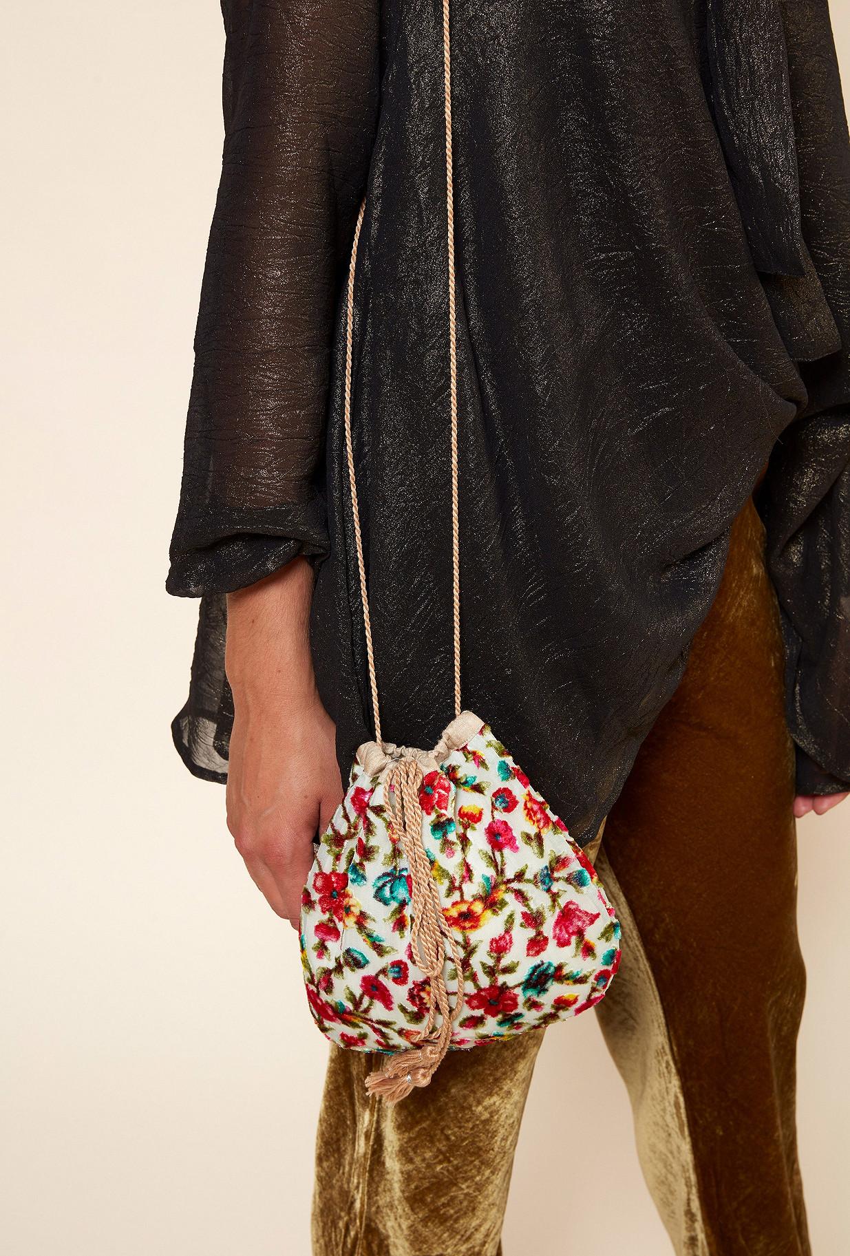 Floral print  Bag  Sam Mes demoiselles fashion clothes designer Paris