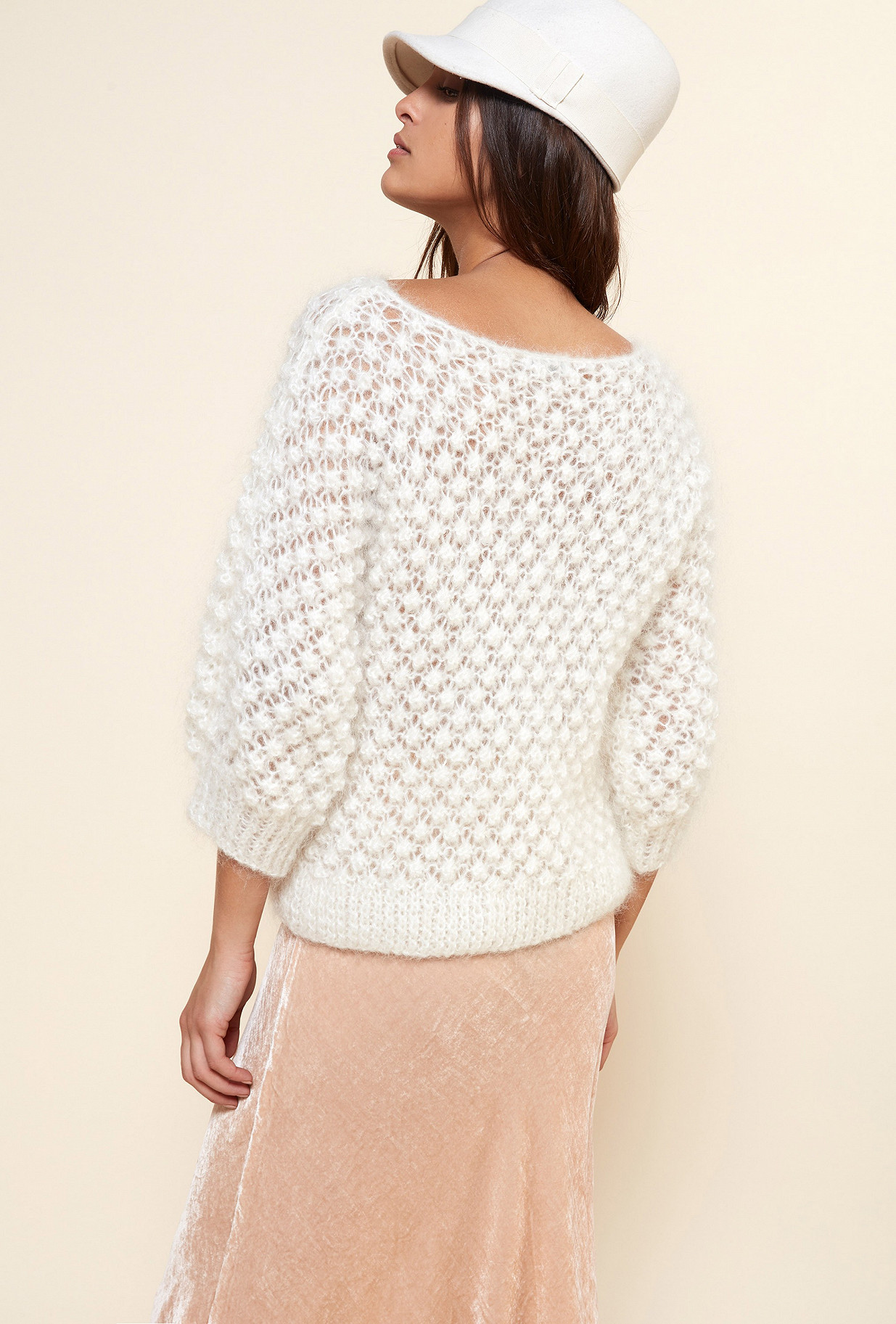 Ivory Sweater Snow Flake Mes Demoiselles Paris