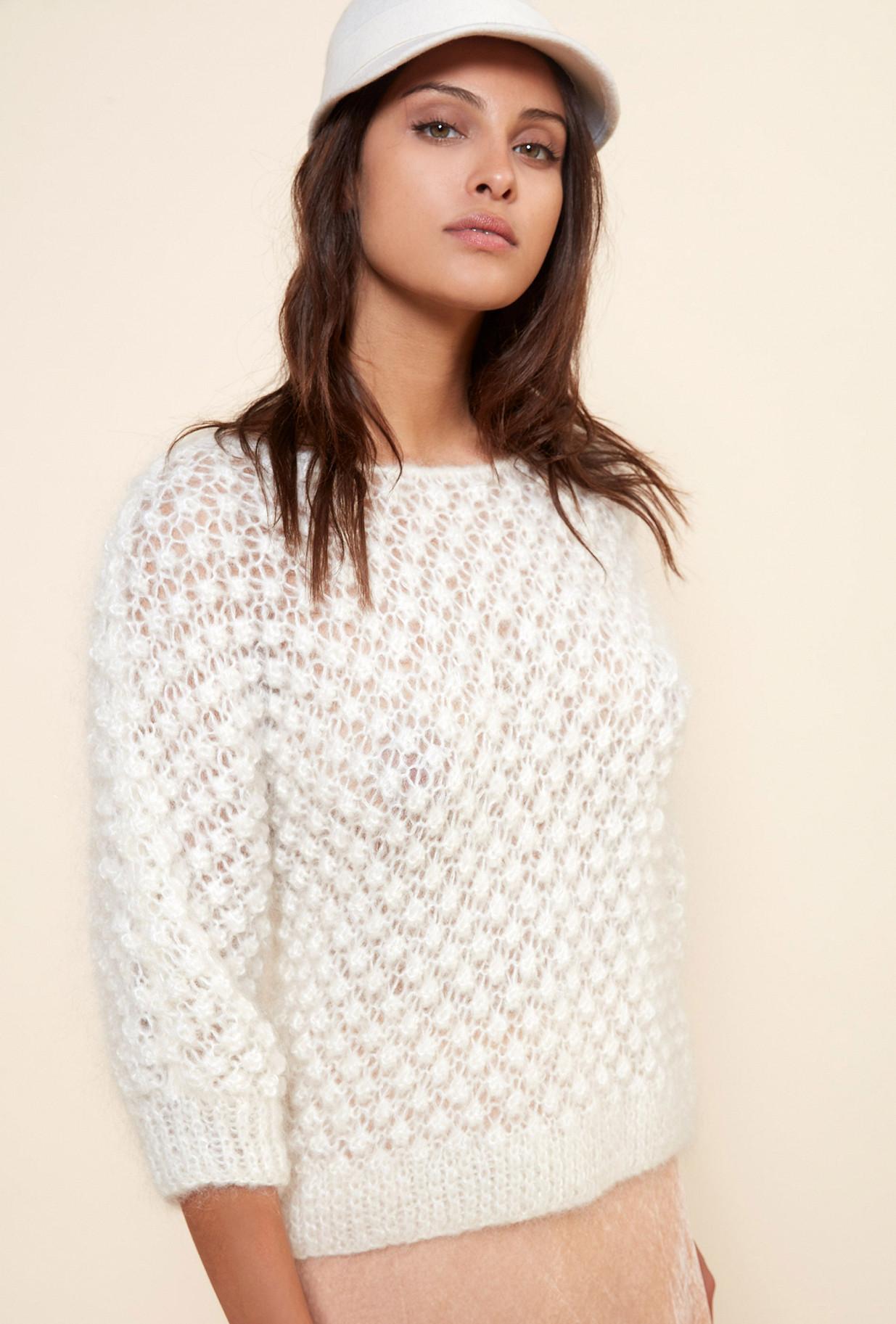 Paris clothes store Sweater  Snow Flake french designer fashion Paris