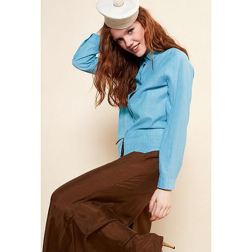 Blue  SHIRT  Maldives Mes demoiselles fashion clothes designer Paris
