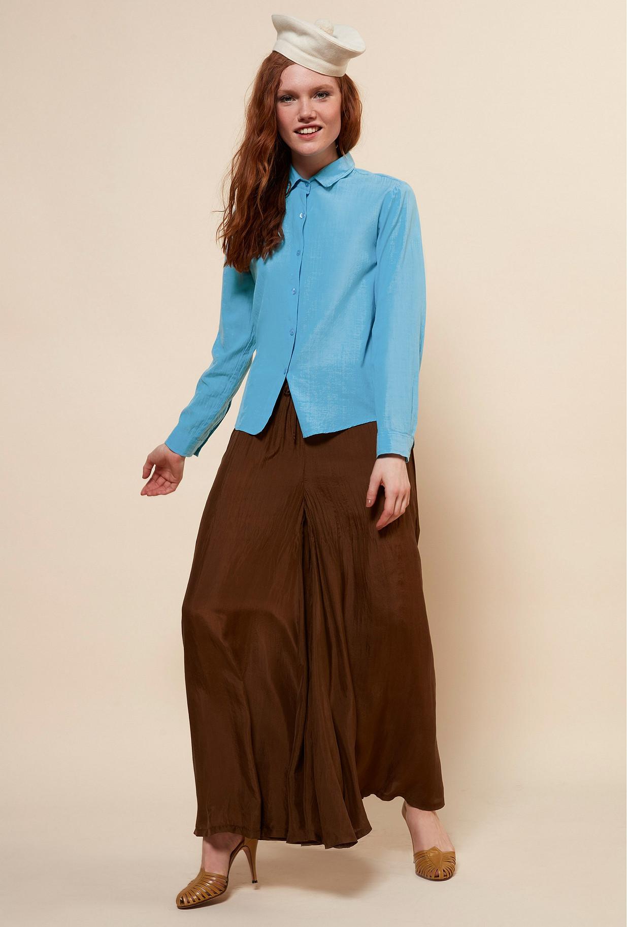 CHEMISE Bleu  Maldives mes demoiselles paris vêtement femme paris