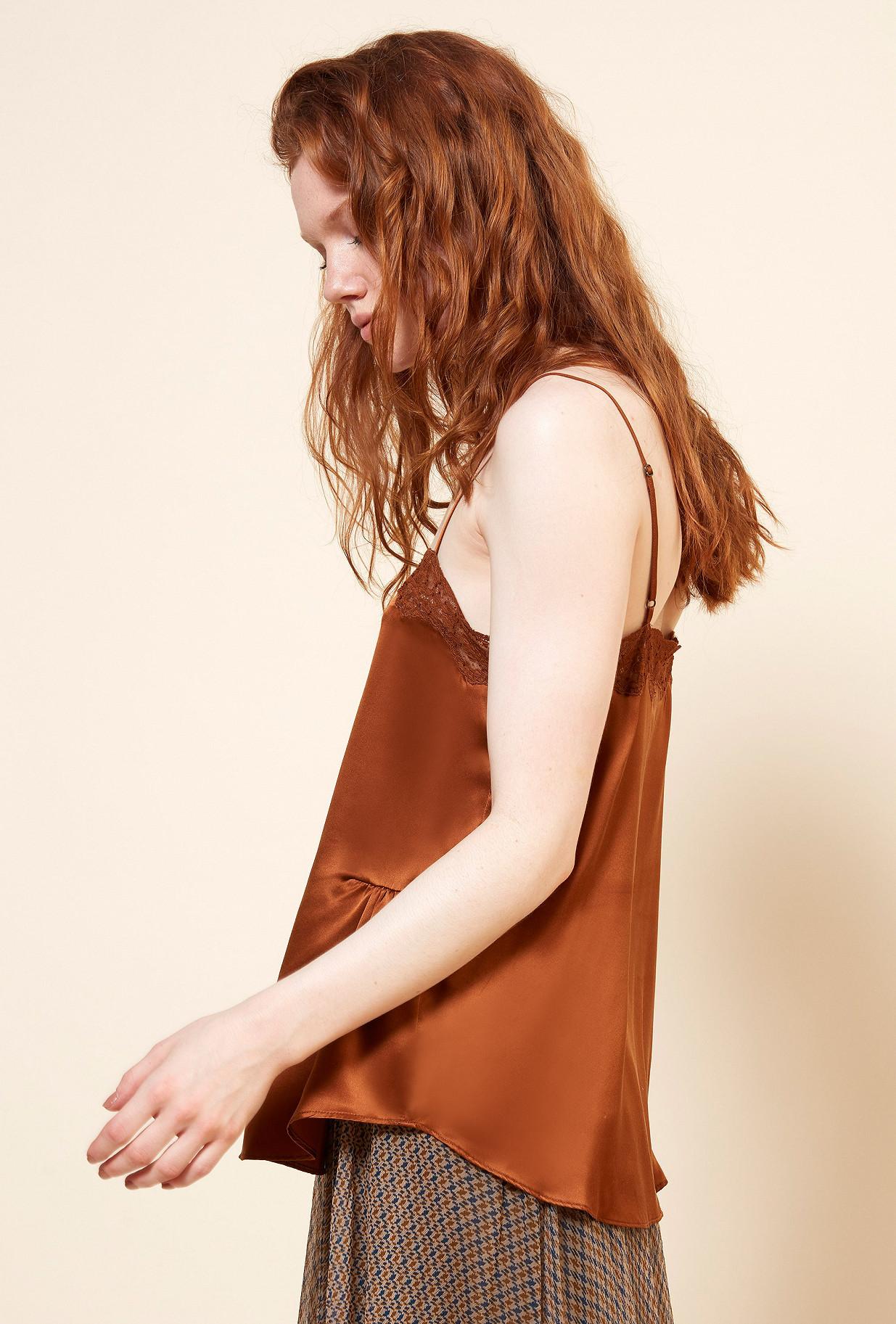 Orange  TOP  Alinea Mes demoiselles fashion clothes designer Paris