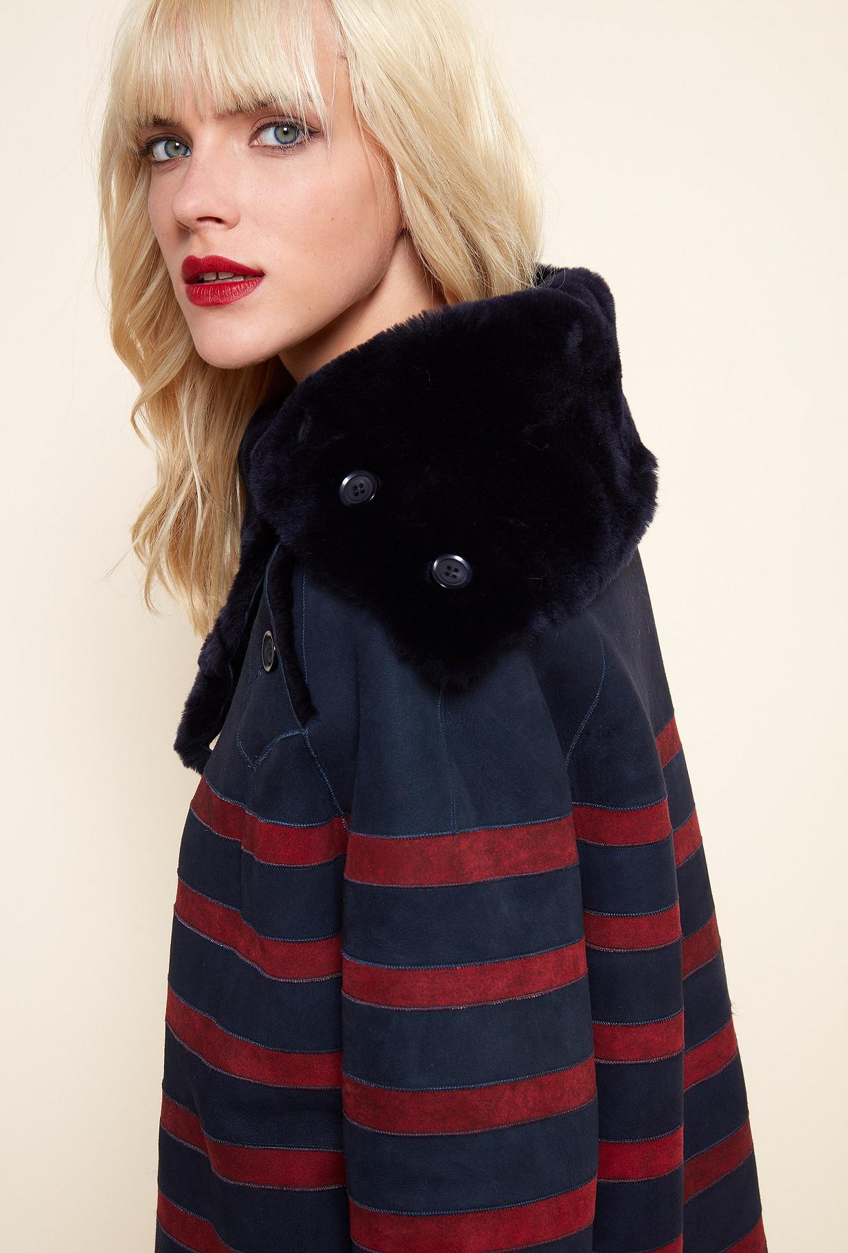 Red stripe COAT Arctique