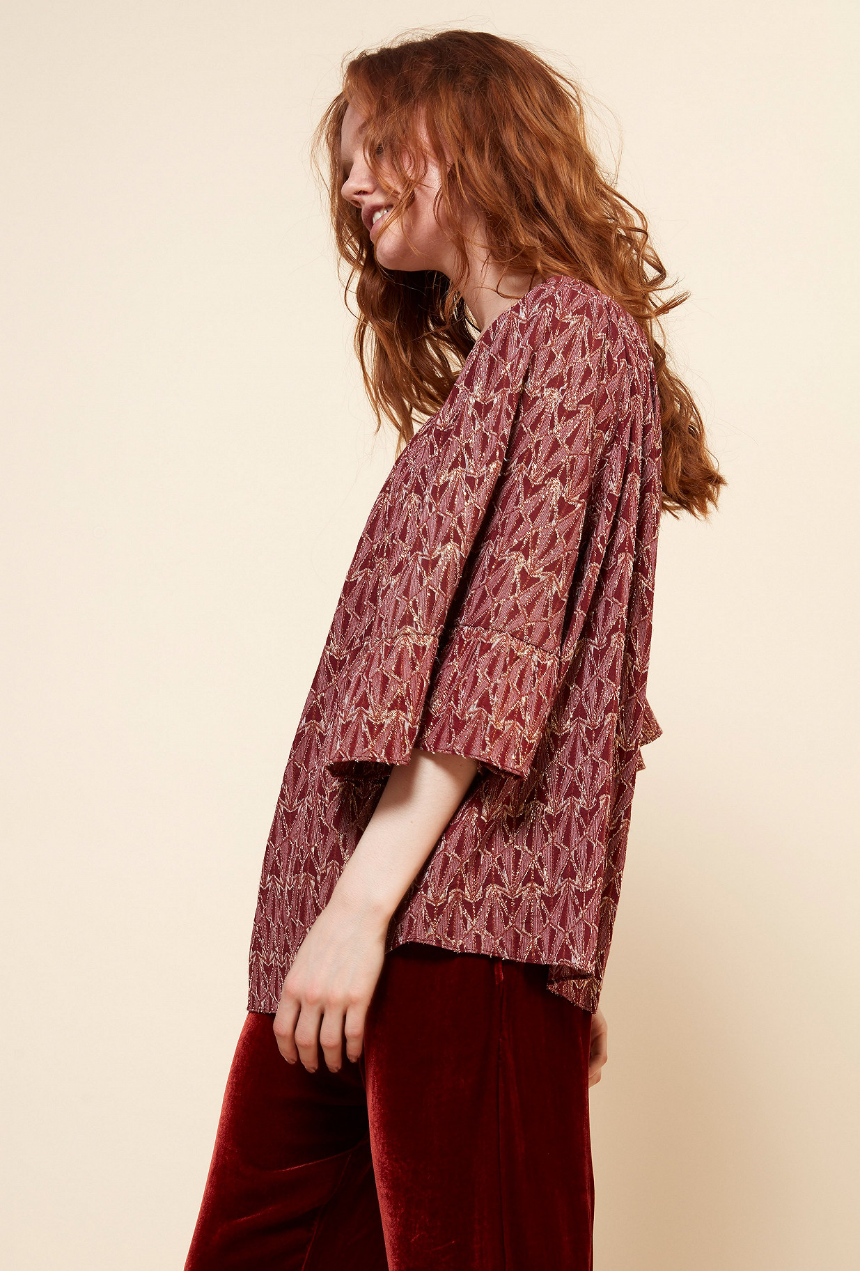 Red  Blouse  Bacchante Mes demoiselles fashion clothes designer Paris