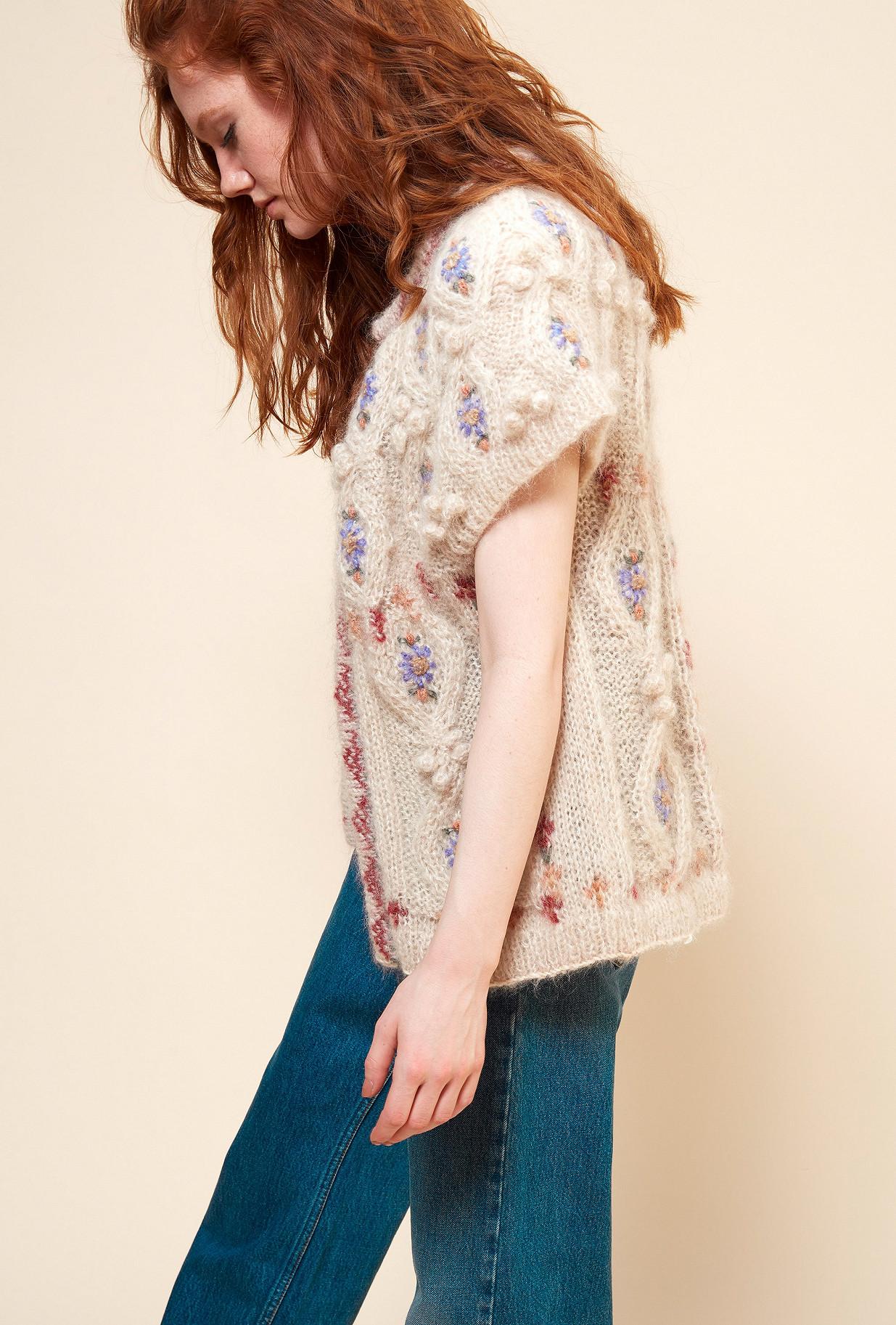 Natural print  Knit  Cheers Mes demoiselles fashion clothes designer Paris