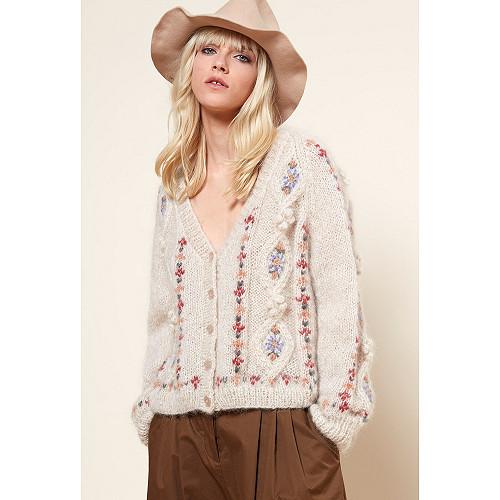 Knit Chelsea Mes Demoiselles color Natural print