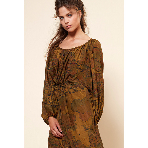 Khaki  Dress  Cyprille Mes demoiselles fashion clothes designer Paris