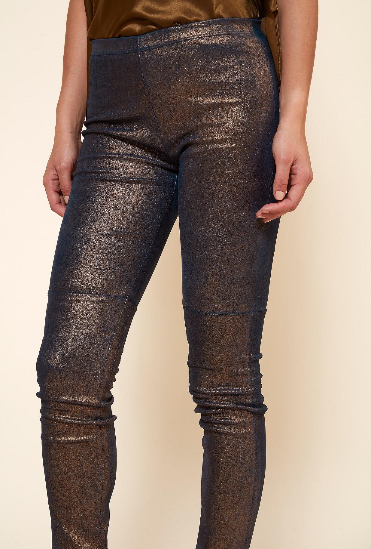 Gold  PANT  Esther Mes demoiselles fashion clothes designer Paris