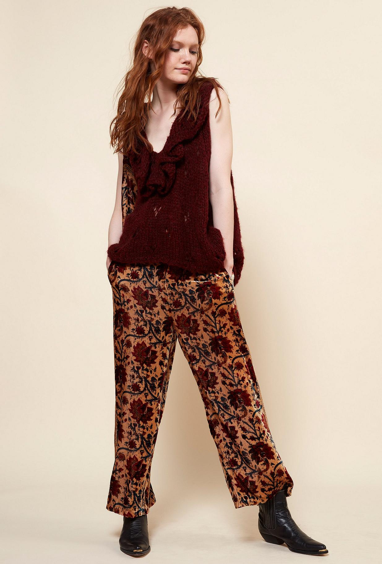 Red  Knit  Frilou Mes demoiselles fashion clothes designer Paris