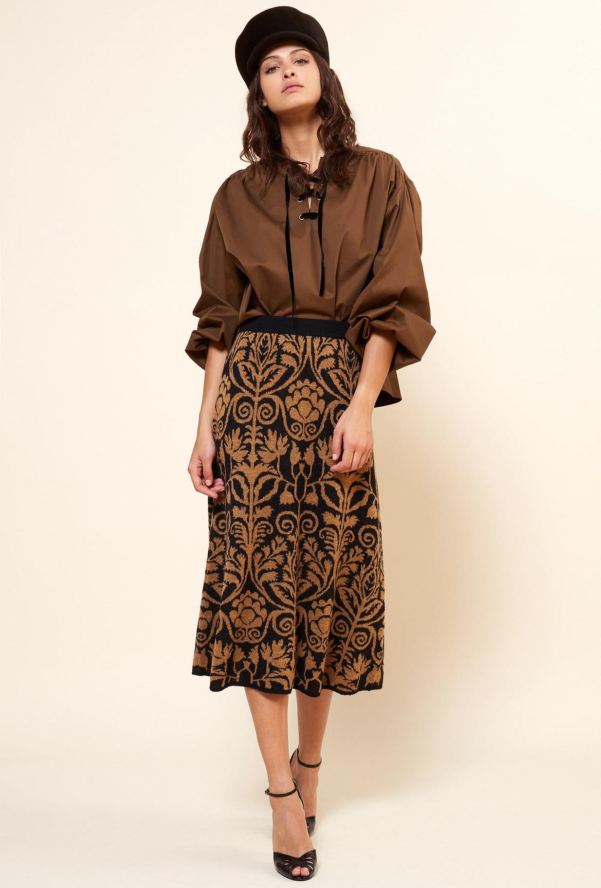 Khaki  Blouse  Graham Mes demoiselles fashion clothes designer Paris