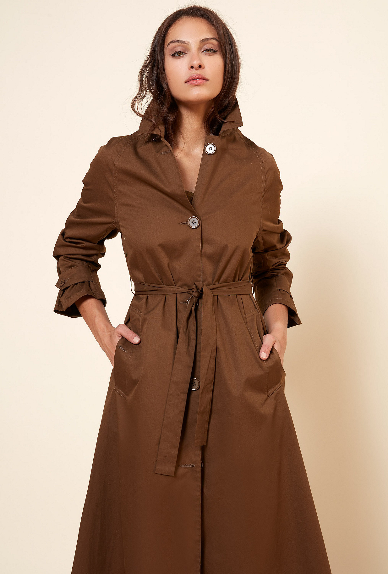 Khaki  COAT  Grant Mes demoiselles fashion clothes designer Paris