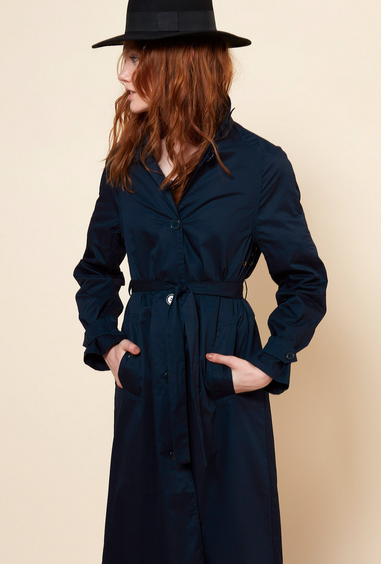 Navy COAT Grant Mes Demoiselles Paris