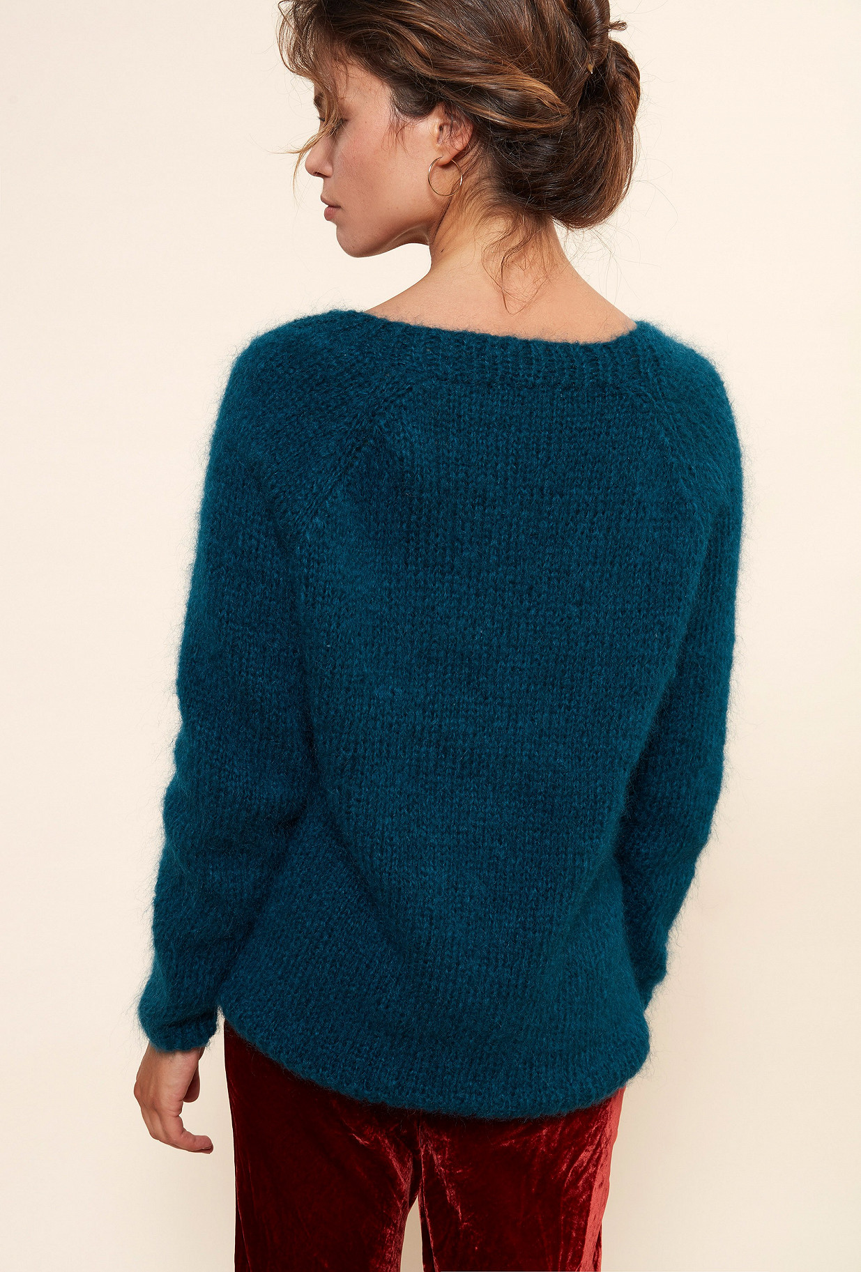 Green  Knit  Juverny Mes demoiselles fashion clothes designer Paris