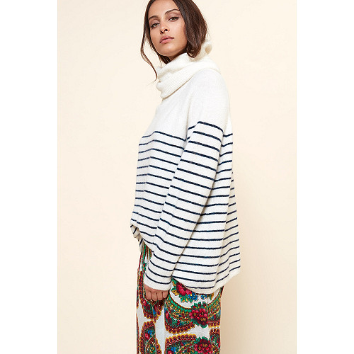 Ecru stripe  Knit  Macarthur Mes demoiselles fashion clothes designer Paris