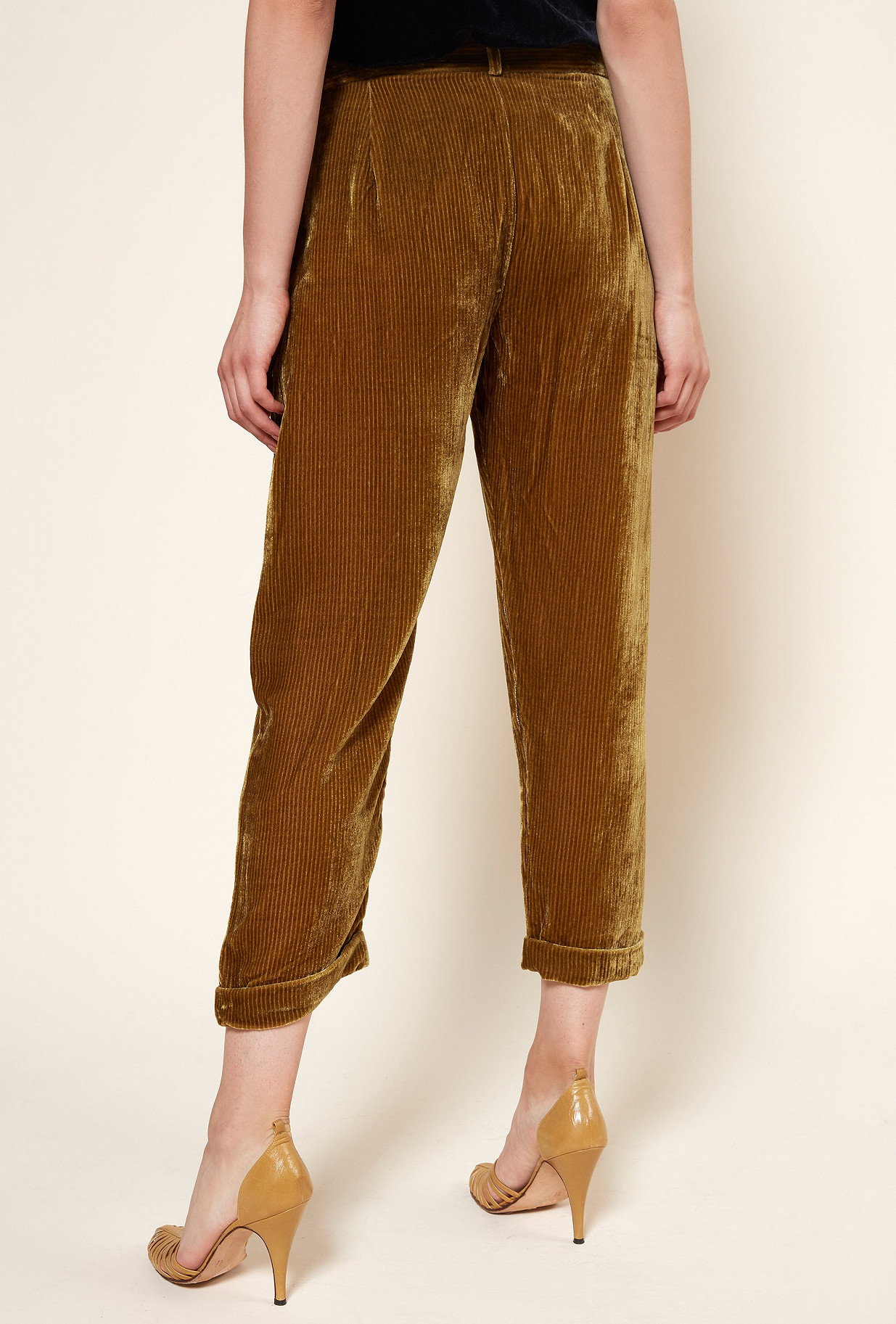 Khaki  PANT  Massimo Mes demoiselles fashion clothes designer Paris