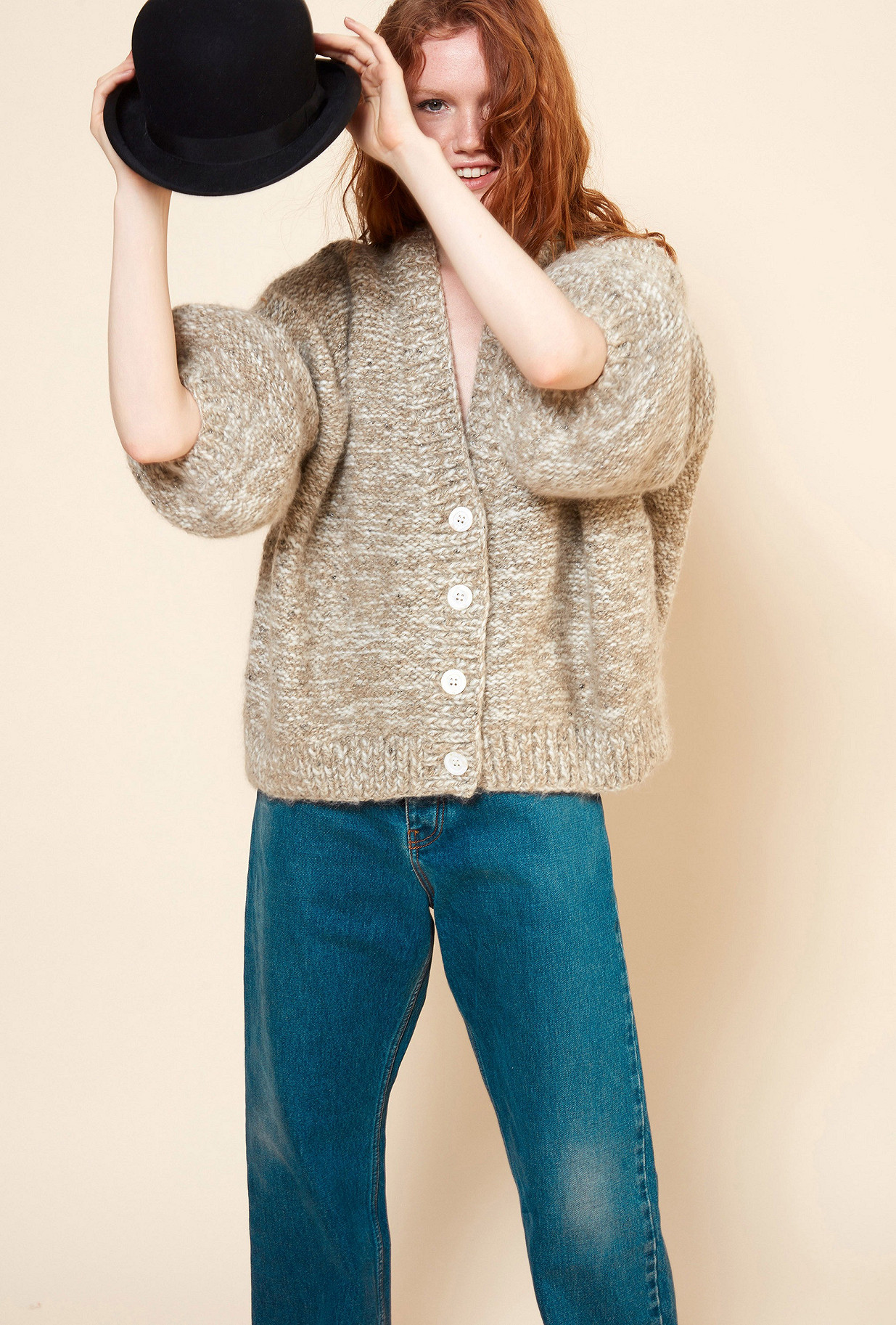Ecru  Knit  Appalaches Mes demoiselles fashion clothes designer Paris