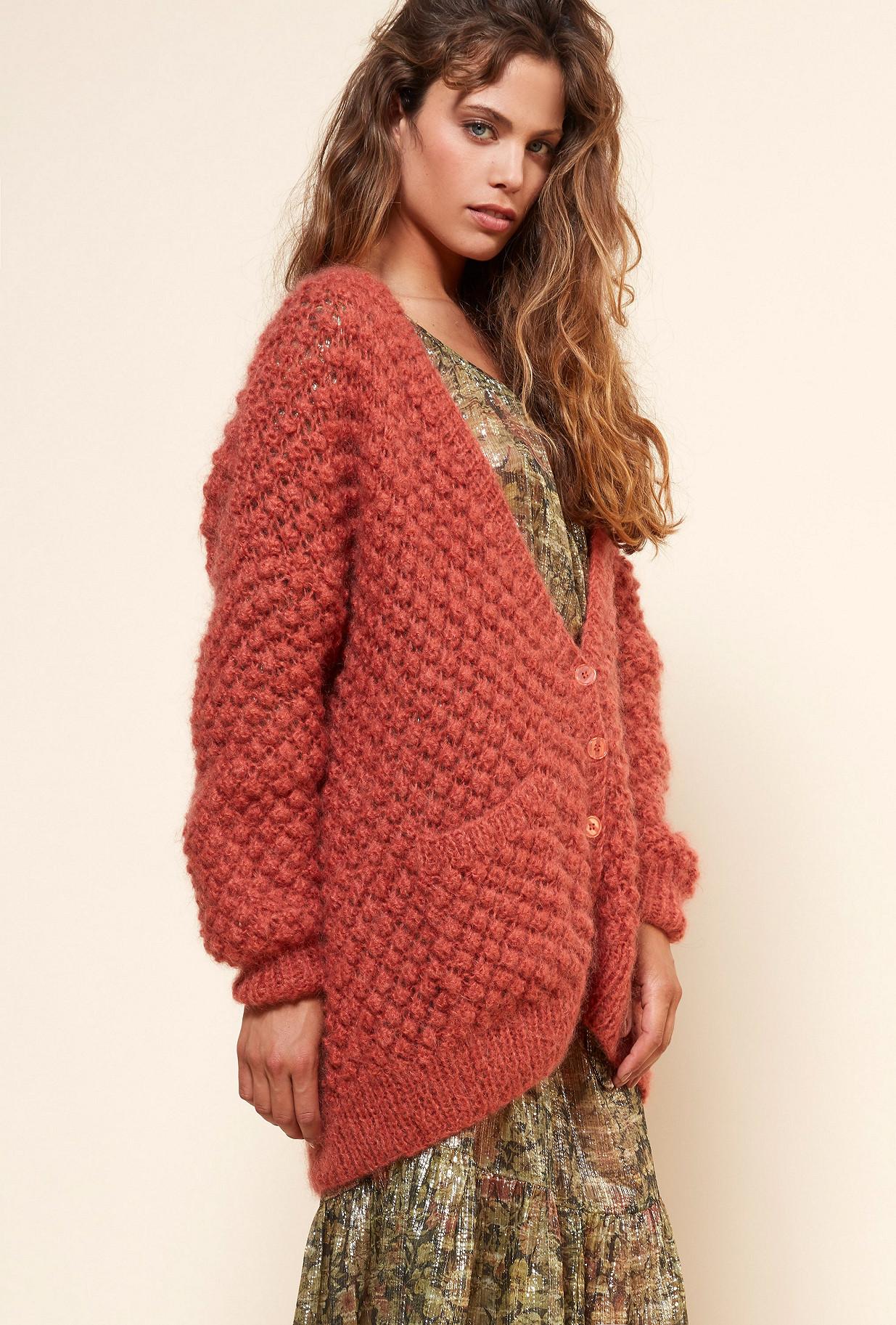 Terracotta  Knit  Snow White Mes demoiselles fashion clothes designer Paris