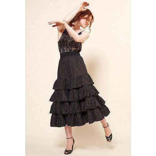 Jupe Noir  Suffragette mes demoiselles paris vêtement femme paris