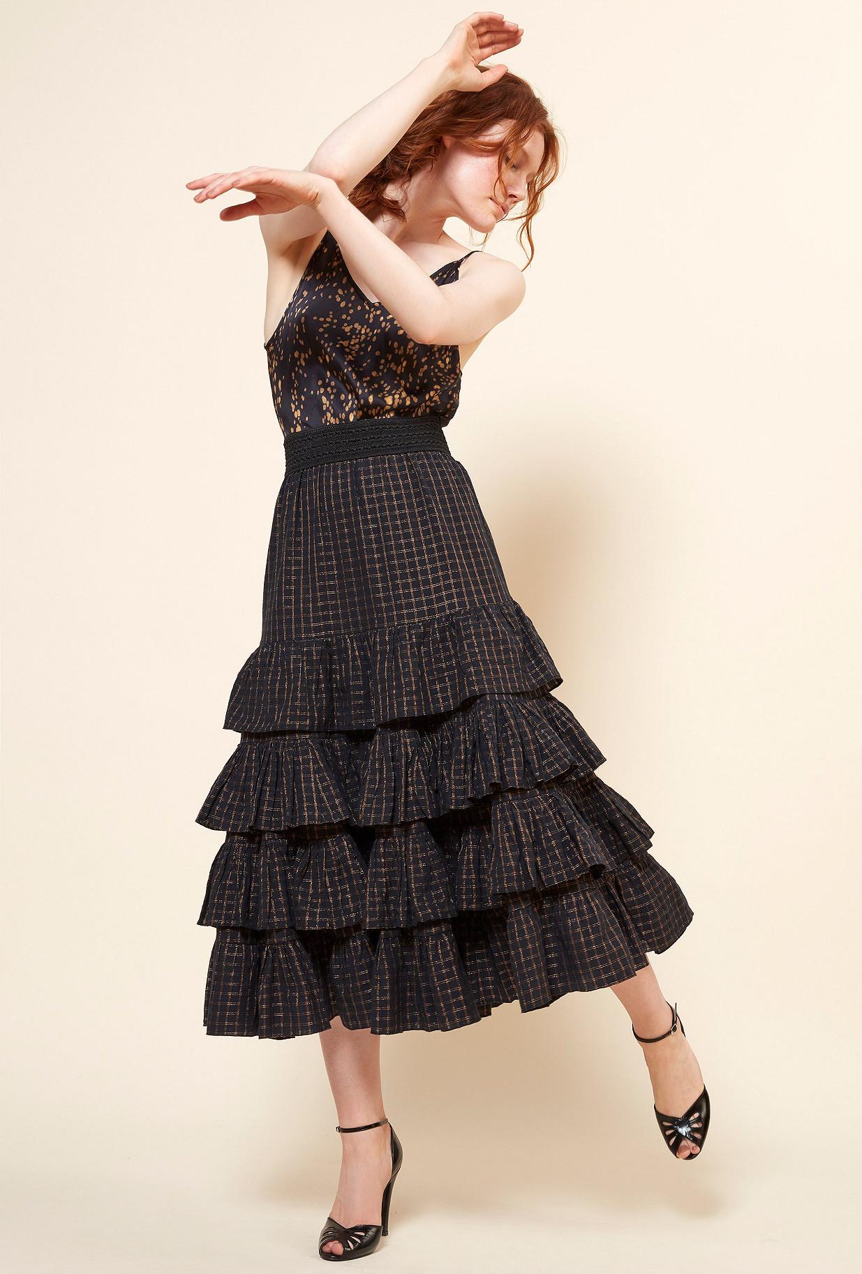 Paris boutique de mode vêtement Jupe créateur bohème  Suffragette