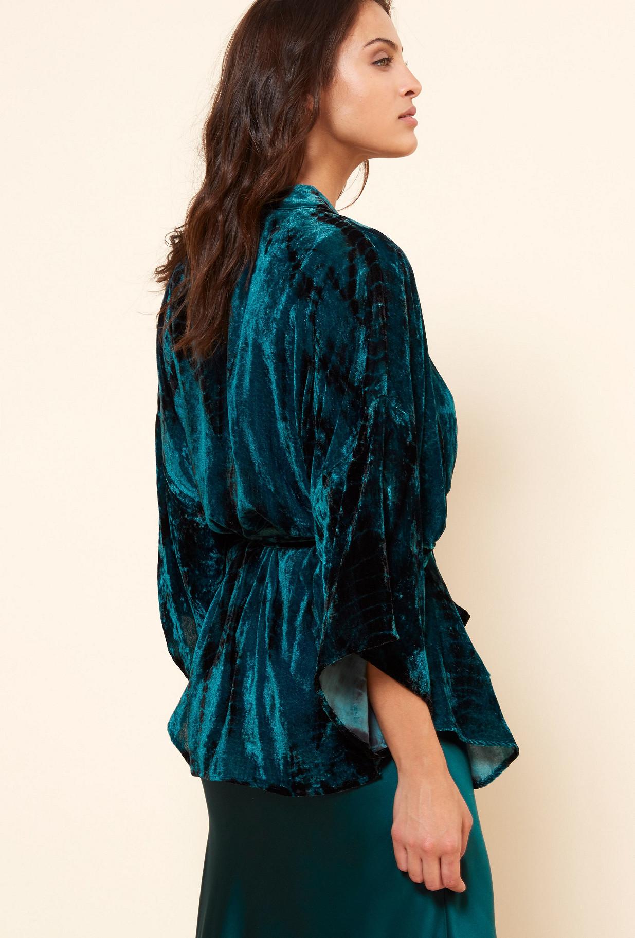 KIMONO Bleu  Suzon mes demoiselles paris vêtement femme paris
