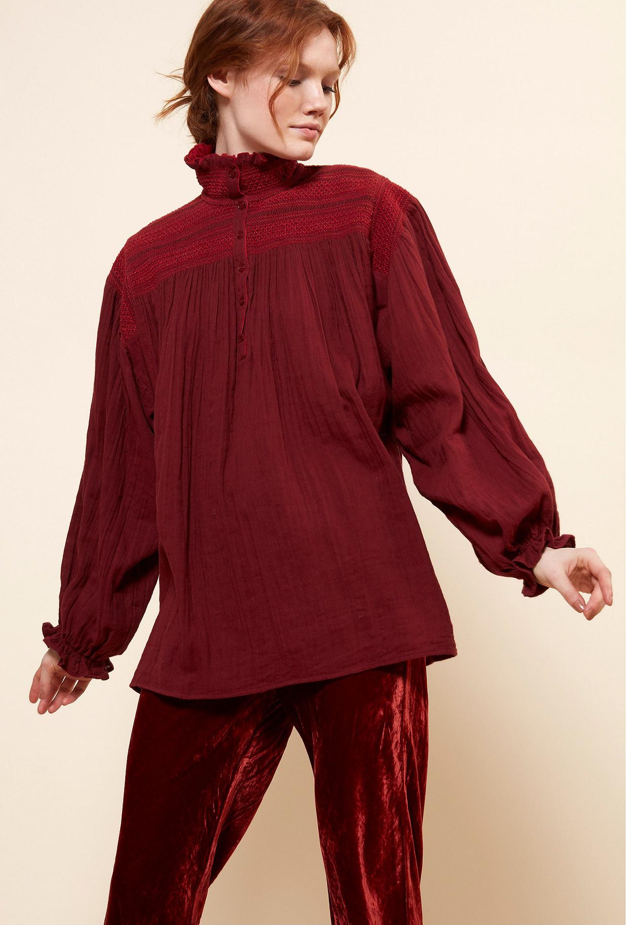 Red  Blouse  Tartuffe Mes demoiselles fashion clothes designer Paris