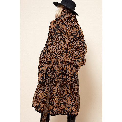 Black print COAT Yetha Mes Demoiselles Paris