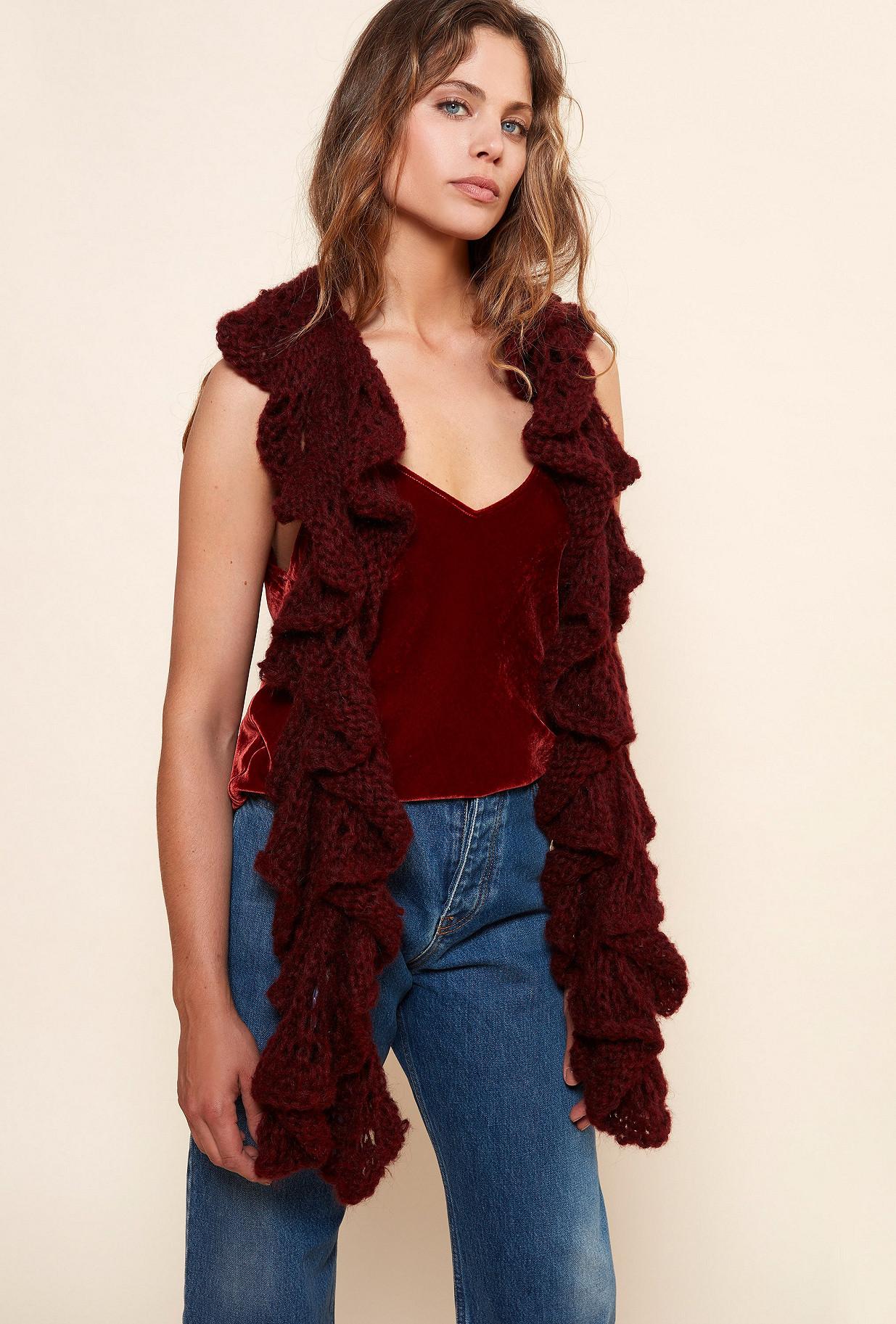 Écharpe Rouge  Frimouse mes demoiselles paris vêtement femme paris