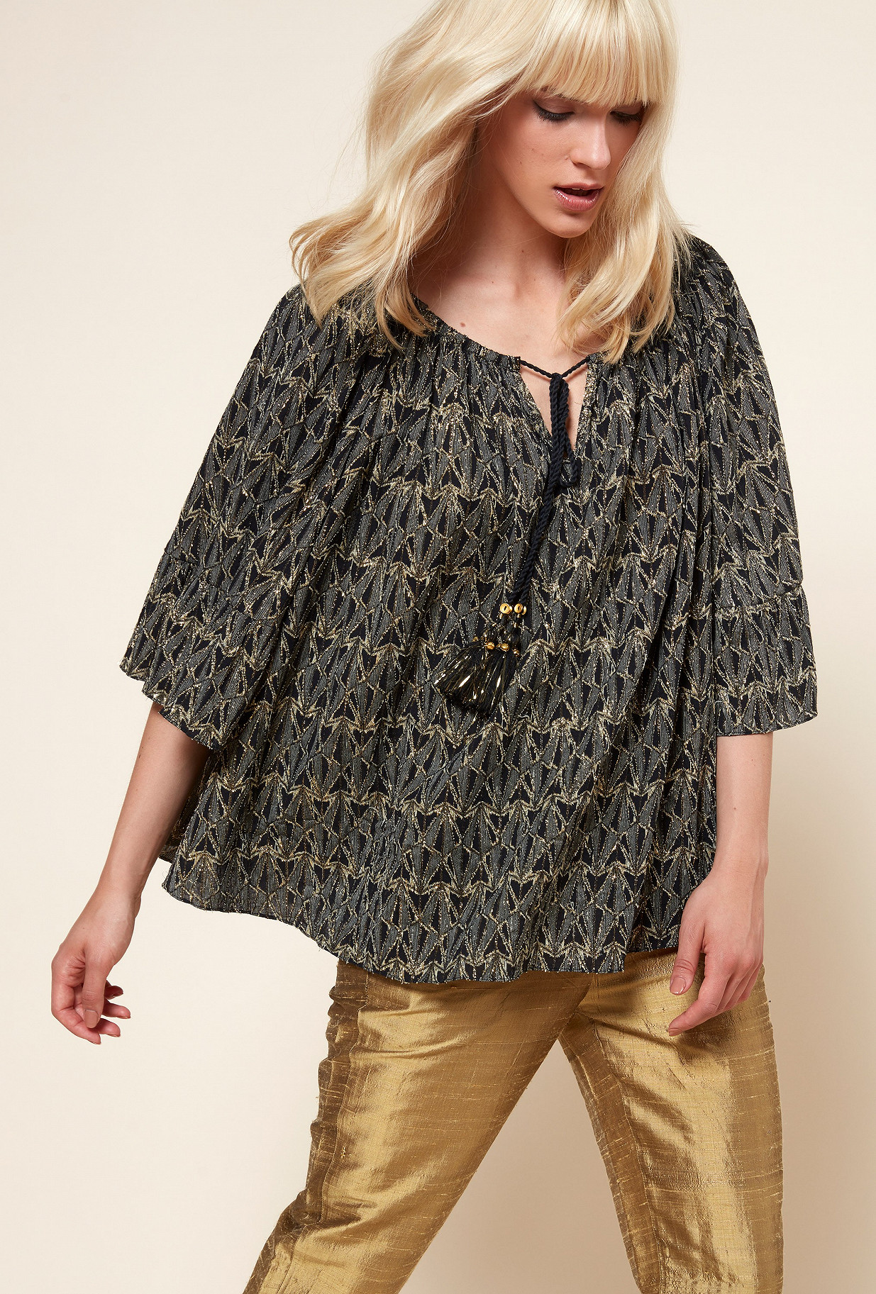 Black  Blouse  Bacchante Mes demoiselles fashion clothes designer Paris