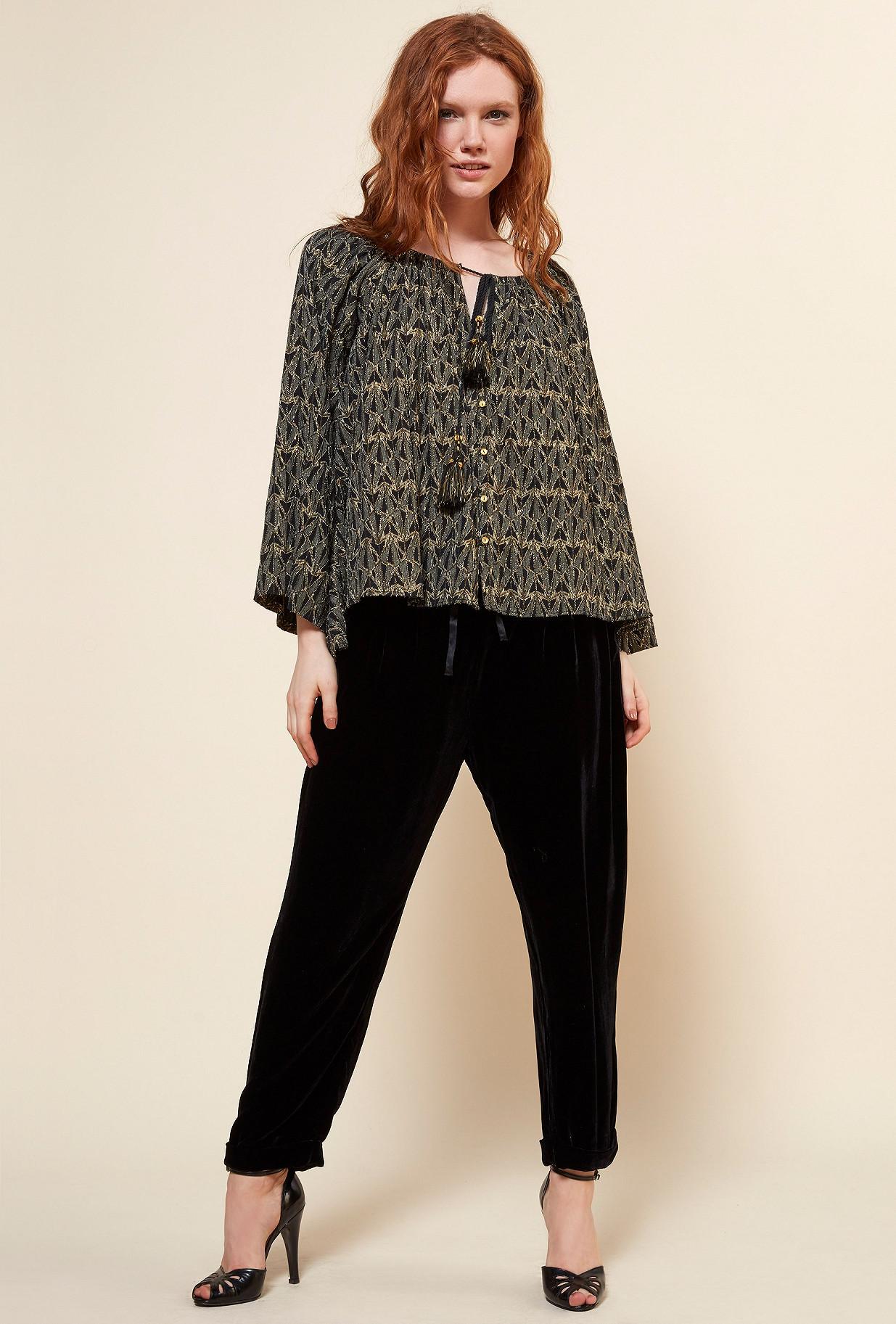 Black  Blouse  Botys Mes demoiselles fashion clothes designer Paris