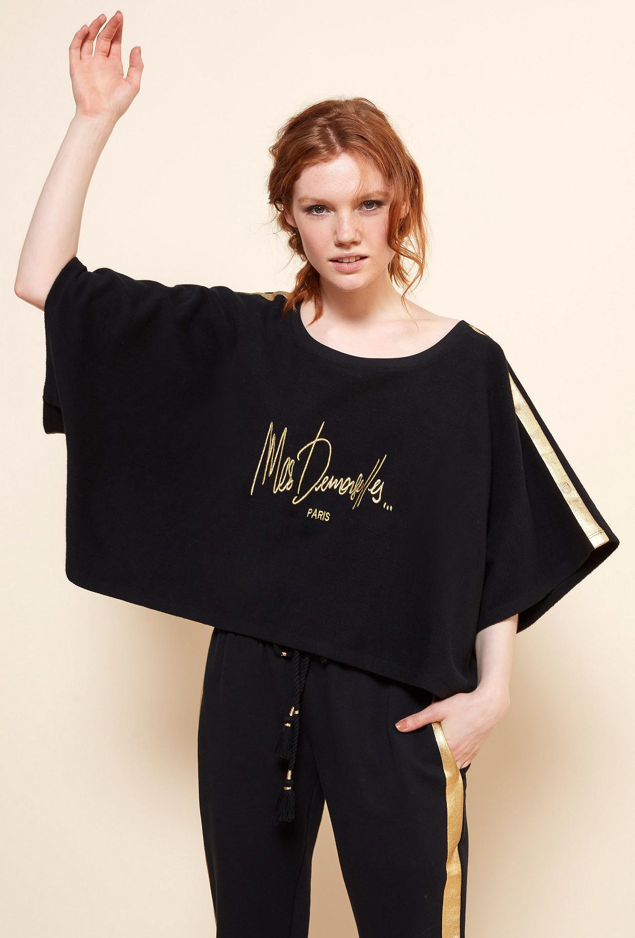 Black  Sweater  Castel Mes demoiselles fashion clothes designer Paris