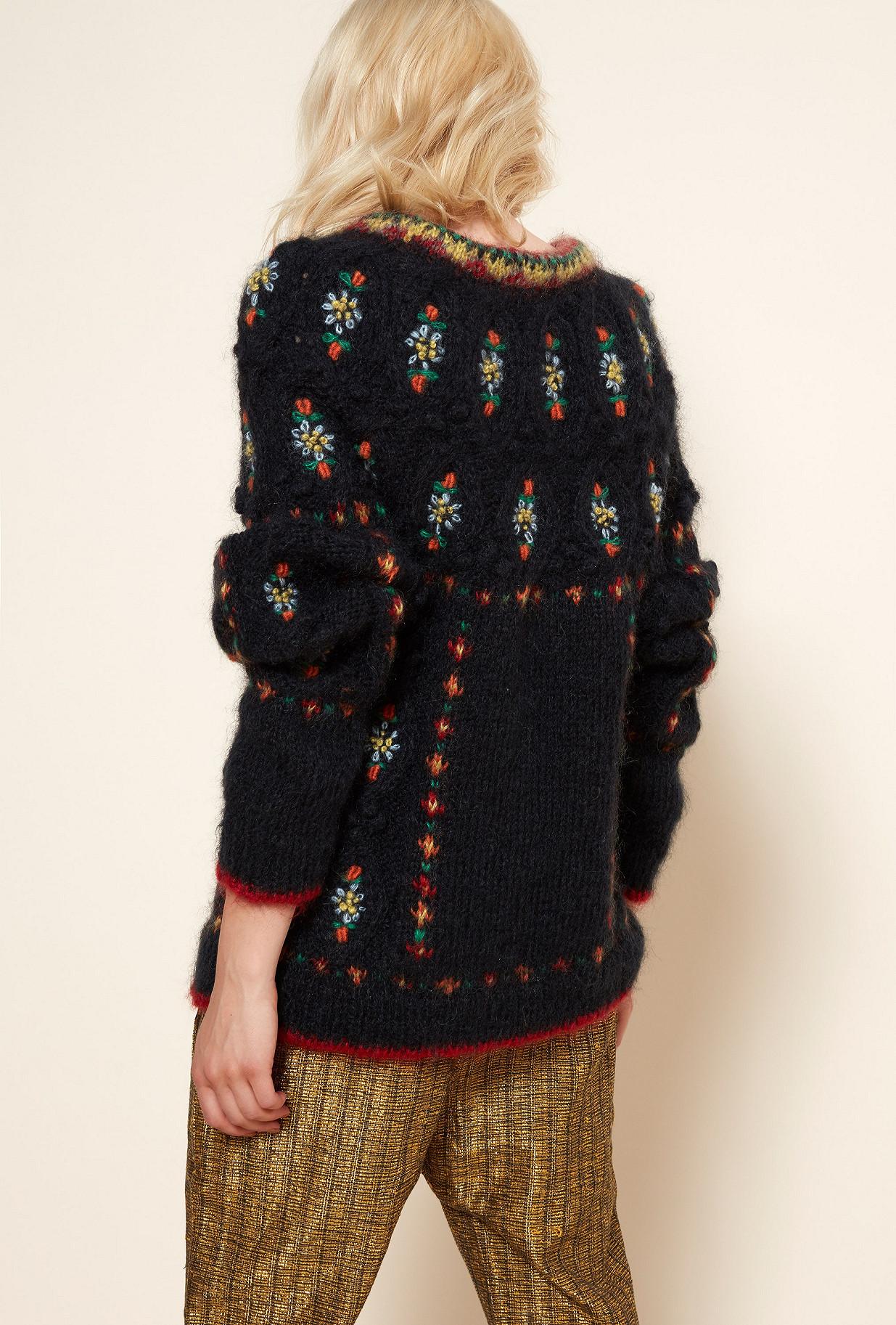 Black  Knit  Cheerleader Mes demoiselles fashion clothes designer Paris