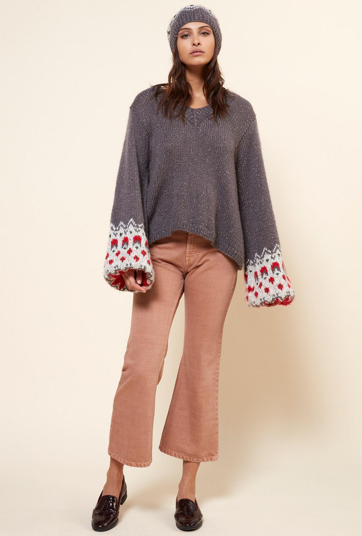 Grey  Knit  Cirano Mes demoiselles fashion clothes designer Paris