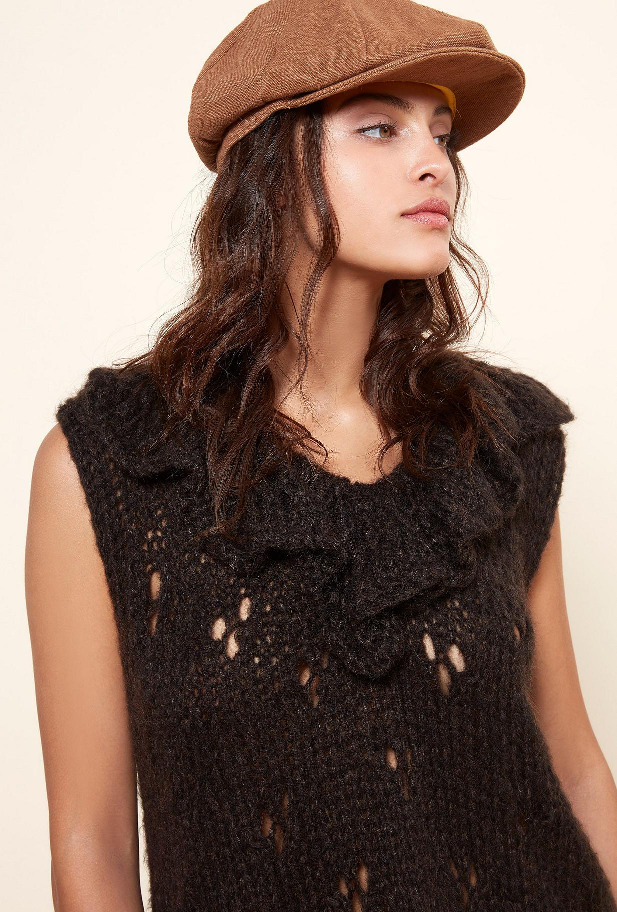 Charcoal  Knit  Frilou Mes demoiselles fashion clothes designer Paris