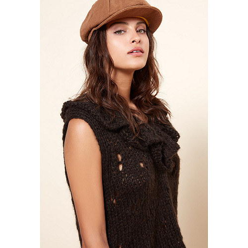 Charcoal Knit Frilou