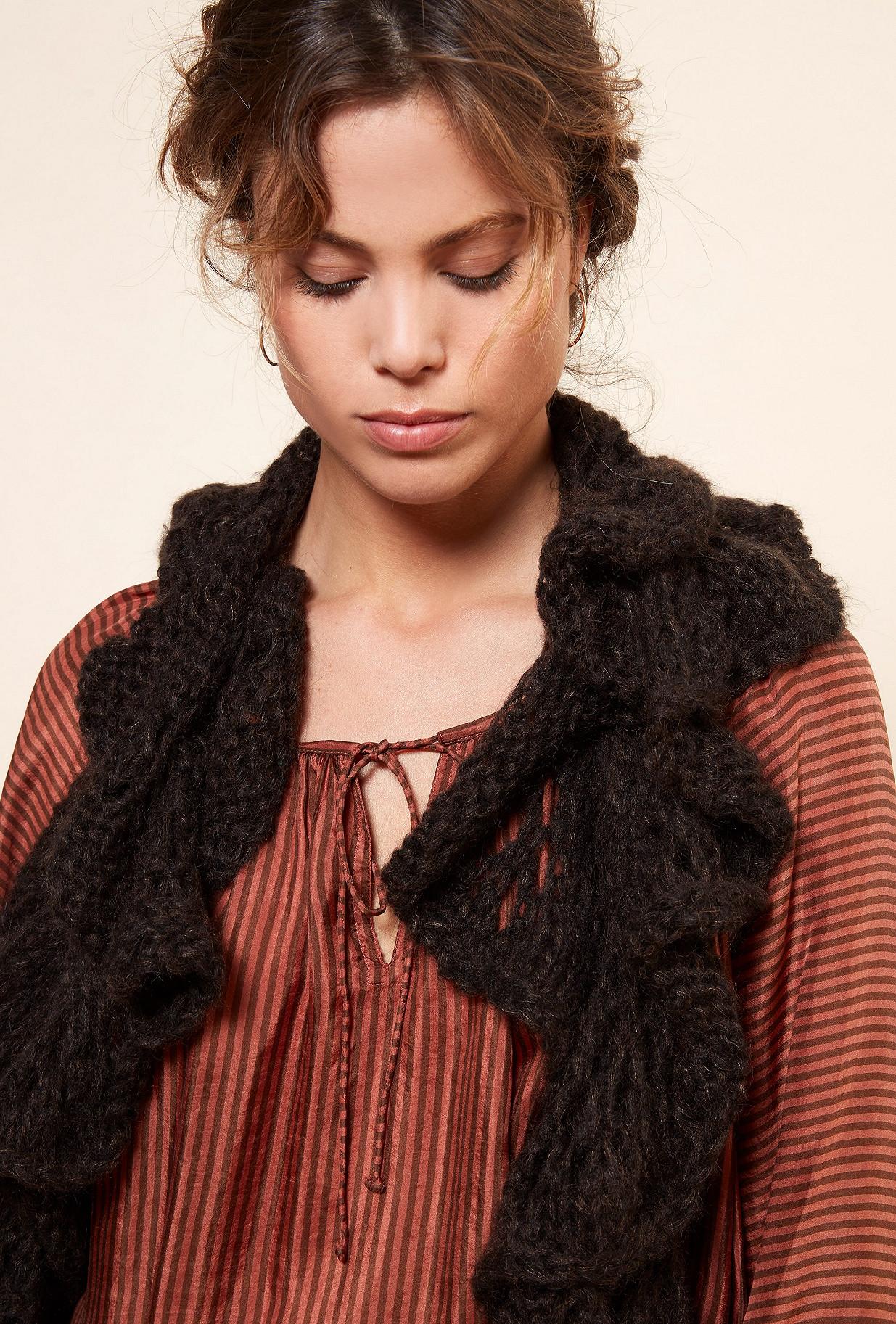Charcoal  Scarf  Frimouse Mes demoiselles fashion clothes designer Paris