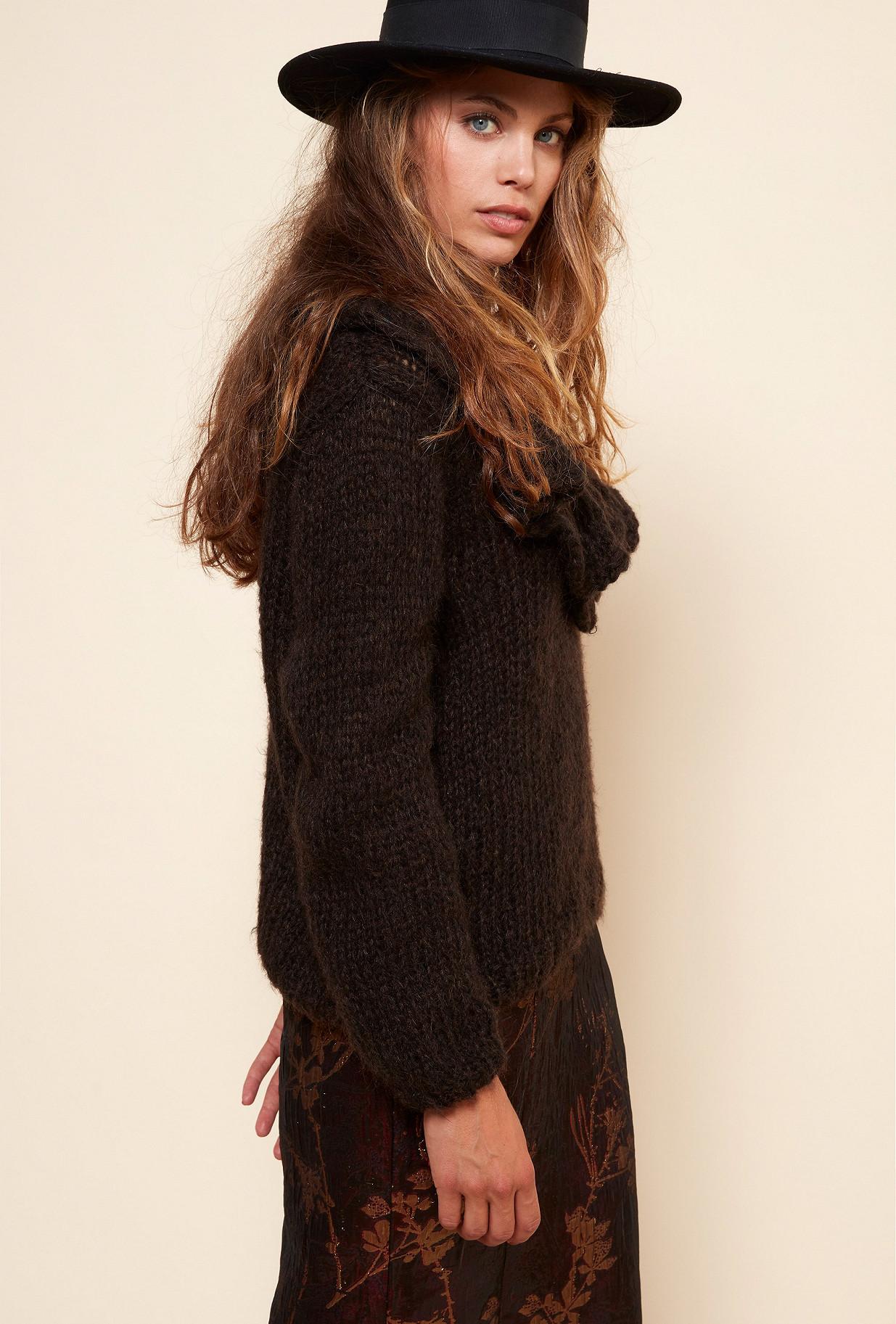 Charcoal  Knit  Frisco Mes demoiselles fashion clothes designer Paris