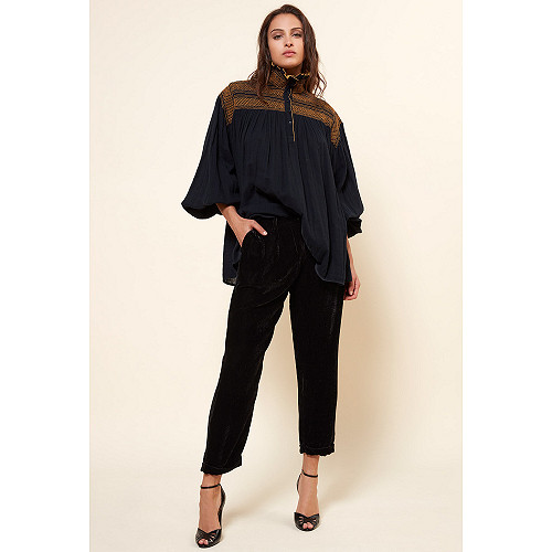Black  PANT  Massimo Mes demoiselles fashion clothes designer Paris
